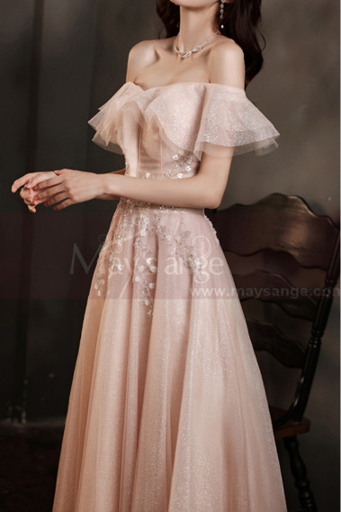 Beautiful Bridesmaid In An Off Shoulder Wedding Guest Outfit - L2032 #1