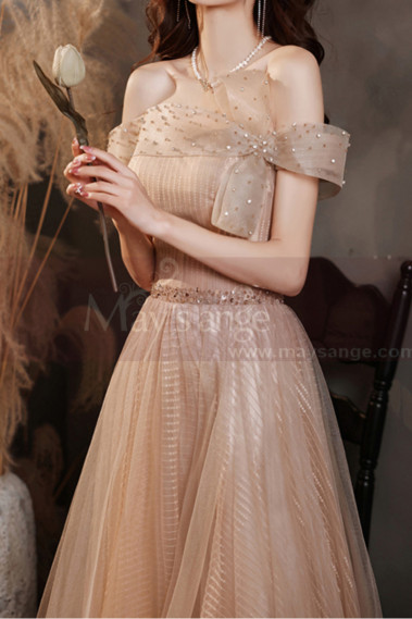 Best Long Dresses For Special Occasion Tulle Sparkling Top - L2033 #1