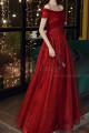 Beautiful Red Formal Evening Gowns Crossover Strapless Style - Ref L2043 - 03