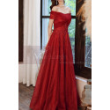 Beautiful Red Formal Evening Gowns Crossover Strapless Style - Ref L2043 - 05