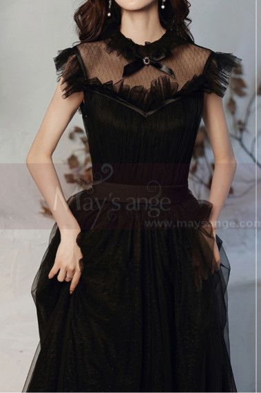 Squared Neckline Brown Formal Evening Gowns In Vintage Style - L2034 #1