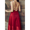 Red Chiffon Holiday Dresses Thin Straps And Fluttering Skirt - Ref L2053 - 03