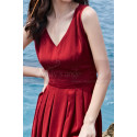 Beautiful Red Casual Attire For Women With Sexy Cutout Back - Ref C2021 - 06