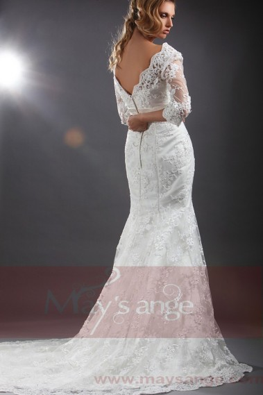Long train Online wedding dress Kate with Embroideries - M052 #1