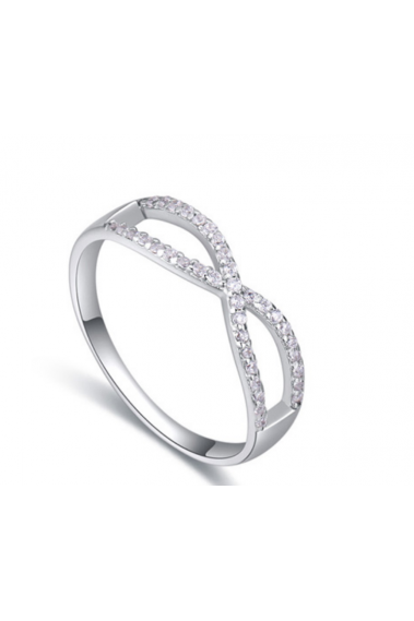 Classic crystal natural zircon stone women's infinity ring - 22283 #1