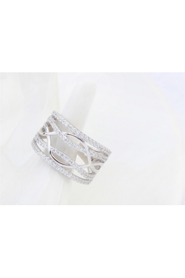 New style affordable silver thick women's anniversary rings - 22288 #1