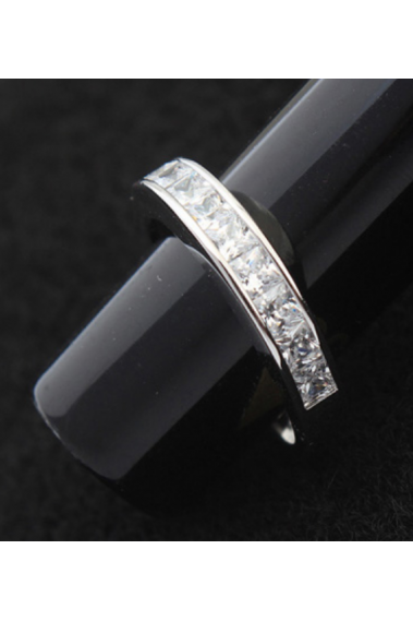 Beautiful women's band engagement rings 925 sterling silver - 22296 #1