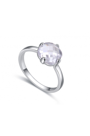 Rings for women simple platinum and round crystal stone - 22451 #1