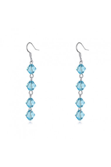 Best silver statement earrings pendant with light blue stone - 23883 #1
