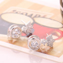 Pretty affordable royal crown simple earring design silver - Ref 28954 - 04
