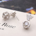 Pretty affordable royal crown simple earring design silver - Ref 28954 - 05