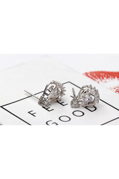 New fashion Jewelry silver trending earrings with nail clasp - 28955 #1