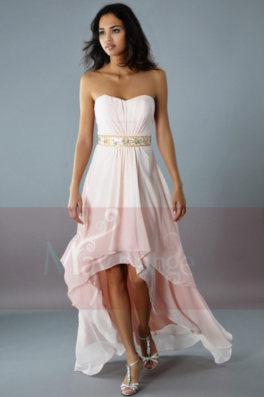 Robe de cocktail mariage rose pale