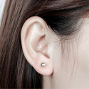 Stud earrings with sterling silver ball fashion cheap trend - Ref 29650 - 07