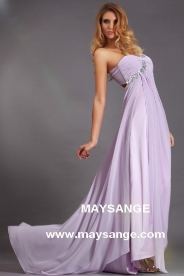 Long Dress for Wedding - Violet Evening Dress-Affordable Violet Evening Dress - L011 #1