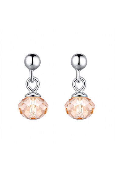 Small gold silver earrings for women for chic evening party - 31415 #1