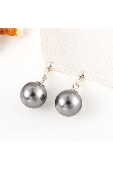 Cute evening studs earrings cheap for women with silver ball - 31419 #1