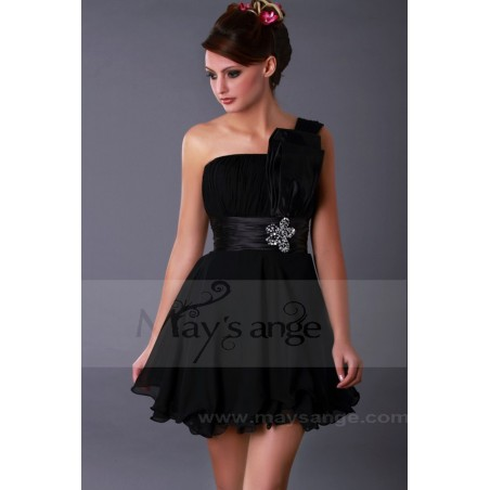 Robe de cocktail Ibiza noire - Ref C058 - 03