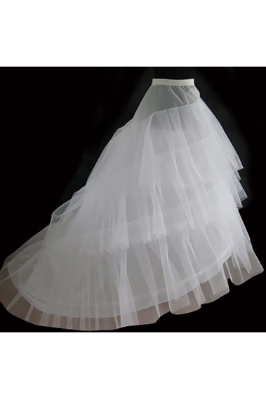 Beautiful white petticoat with train - 8806C #1
