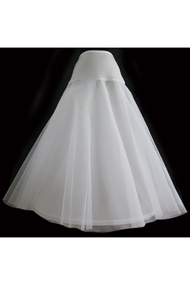 White petticoat for tight waist gown - 8860 #1