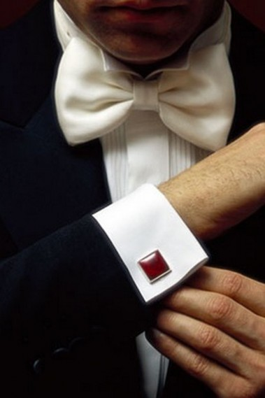 White shirt with cufflinks MM002 - MM002 #1