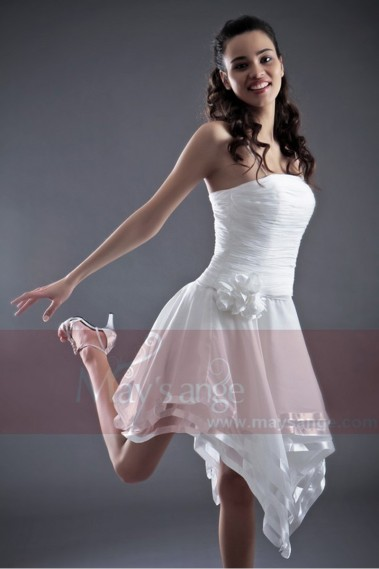 Fluid cocktail dress - Sexy White Cocktail Dress - C016 #1