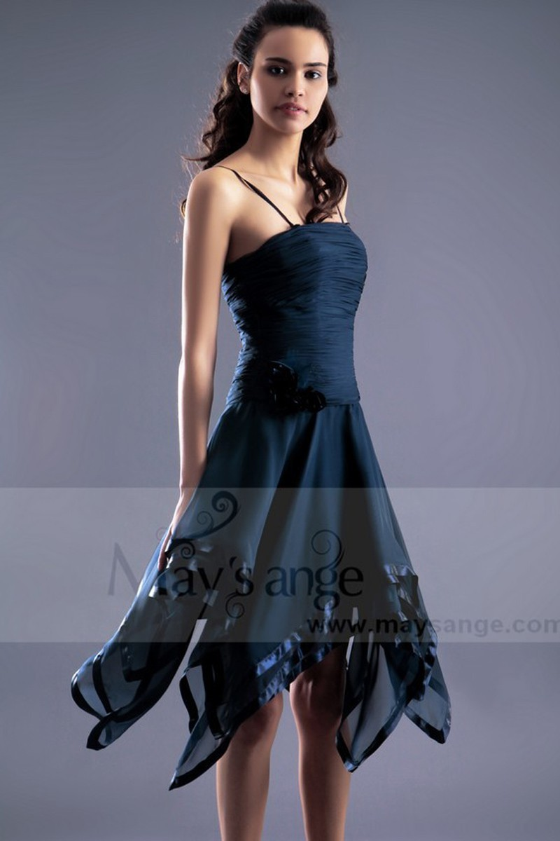 Short Party Dress Charming Bodice With Straps - Ref C181 - 01