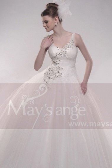 White wedding dress - Bridal wedding dresses Faith M054 - M054 #1