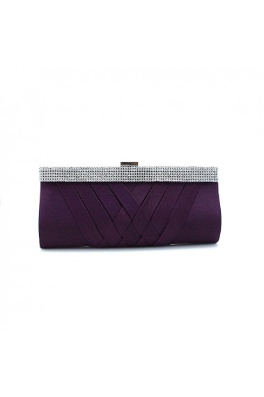 Purple evening pouch with rhinestone - SAC252 #1
