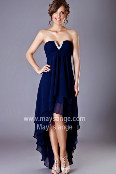 Elegant Evening Dress - SEXY COCKTAIL DRESS NAVY BLUE - C199 #1