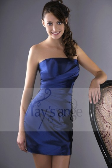 Short evening dress - Close-Fitting Sexy Blue Cocktail Dress - C006 #1