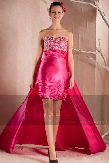 Long Sequin Prom Dress With Train - C223 #1