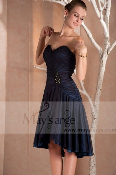 Blue cocktail dress - Strapless Short Blue cocktail dress Australia - C234 #1