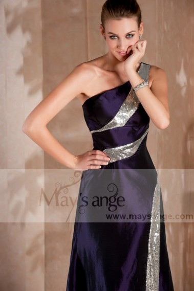 Robe de soirée longue - Robe de soirée longue violette Cannes - L242 #1