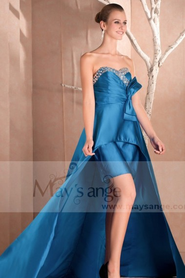 Prom and evening asymetrical dress Queen of the night - C245Promo #1