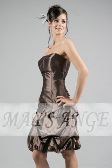 Robe soiree Chocolat intense - C023 #1