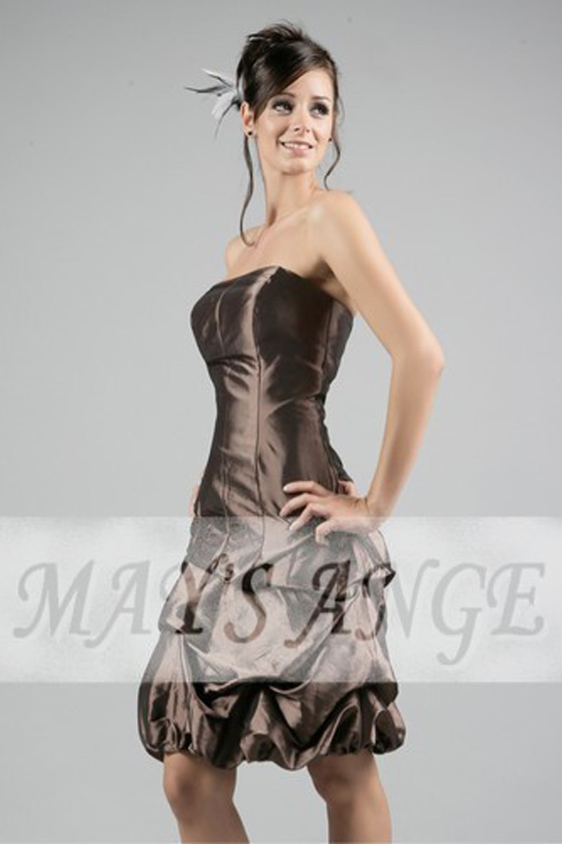 Robe soiree Chocolat intense - Ref C023 - 01