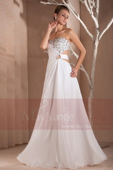 white dress lace strapless evening Diamant L270 - L270 #1
