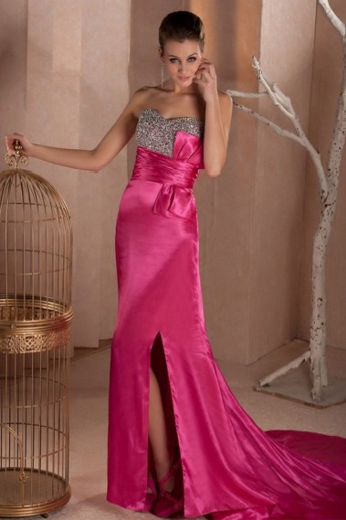 Prom and evening dress Barbie in satin with glitter - L272 #1