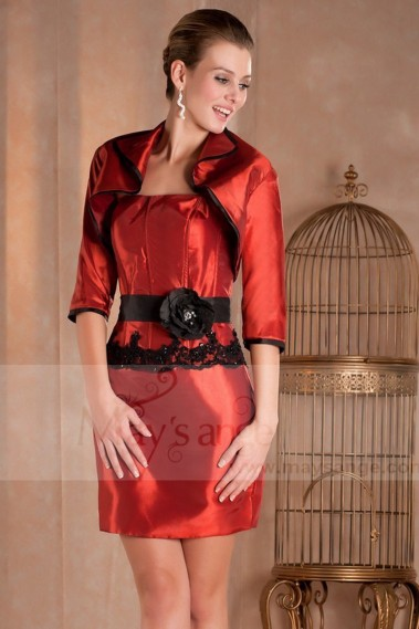 Red evening dress - Cocktail dresses C263 - C263 #1