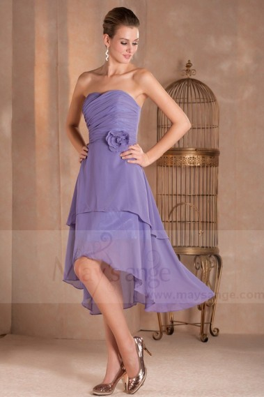 Long cocktail dress - High Low Strapless Semi-Formal Party Dress - C264 #1