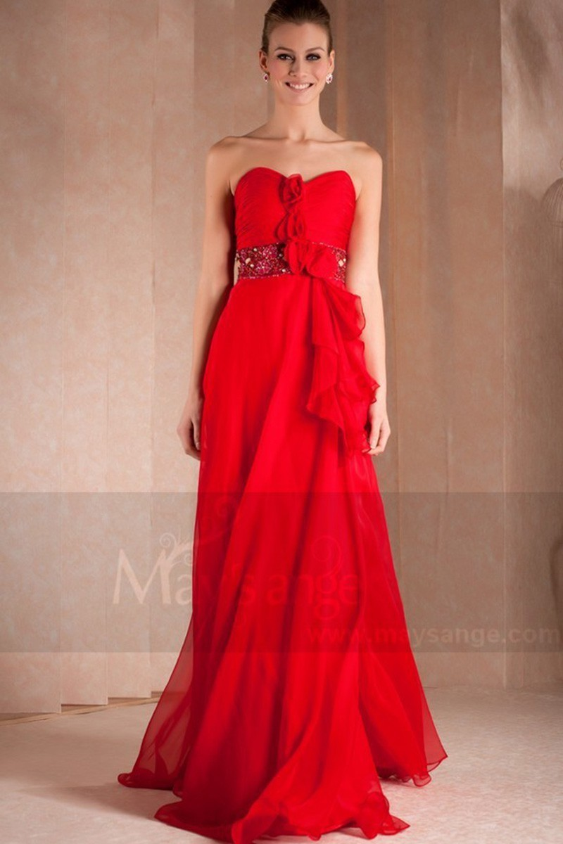 05c045cd078aa Robes longue rouge de soirée Passion - Ref L276 - Robes de Gala