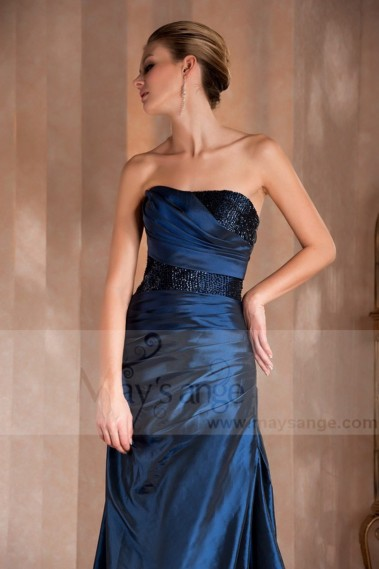 Blue evening dress - Robe Orange Volcanique - L277 #1