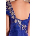 Blue Sparkly Party Maxi Dress With Sleeves - Ref L281 - 04