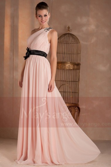 Evening Dress with straps - long evening dresses pale pink Dulcinea - L288 #1