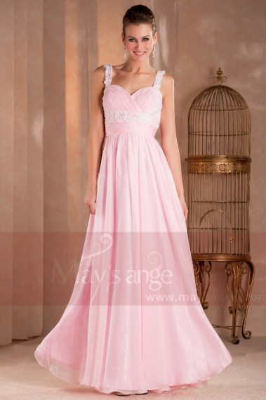 Pink bridesmaid dress - Formal evening dresses Rebecca - L293 #1
