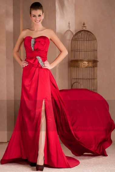 Red evening dress - Prom and evening dresses Princess of China - L297 #1