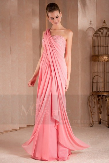 long evening dress draped and fluid Greco Roman - L306 #1