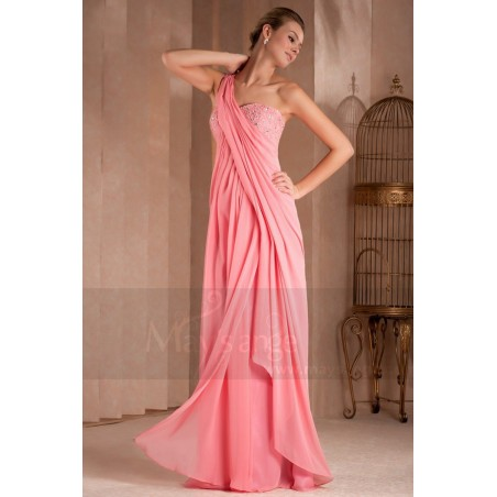 Long Evening Dress Draped And Fluid Greco Roman