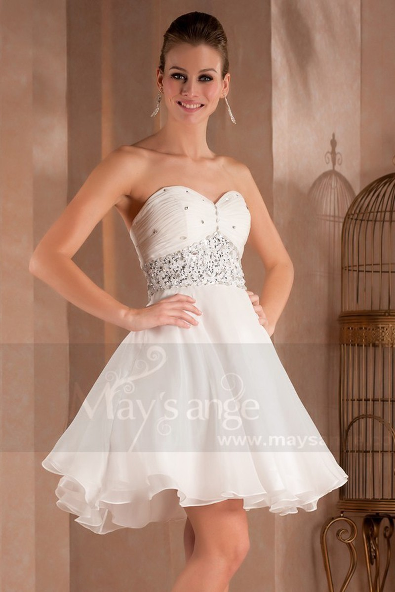 Robe soiree diamant blanc